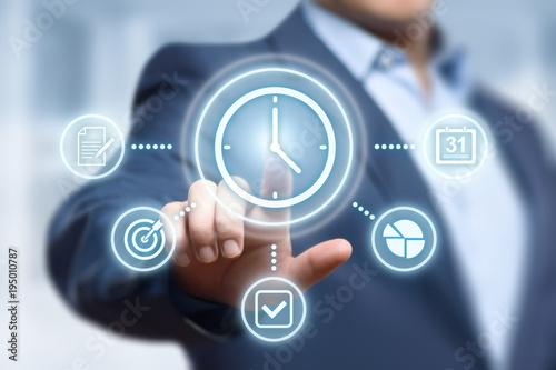 Obraz time management project efficiency strategy goals business technology internet concept - fototapety do salonu