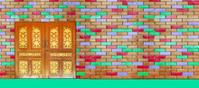 Colorful Brick Wall Interior L...