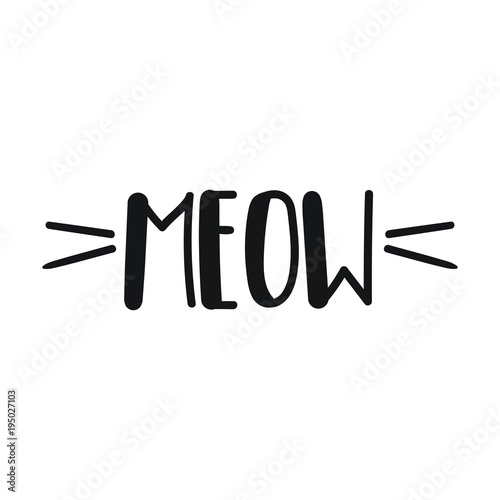 Canvas Print Meow