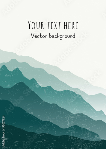 Vertical Nature Background With Space For Text Vector Illustration Cards