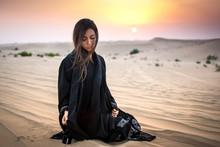 Beautiful Young Woman In Black...