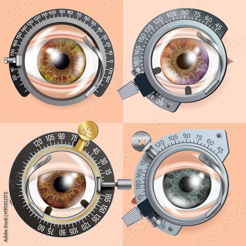 Fotografía  Eye Test concept Vector