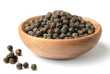 Dried Black Peppercorns In The...