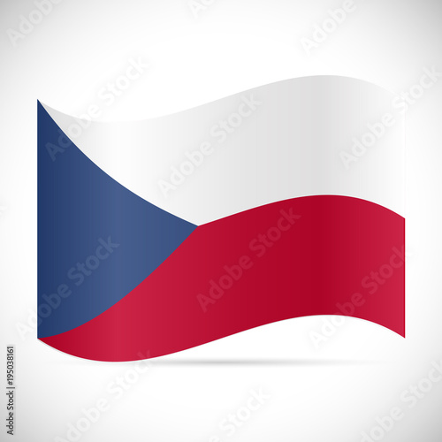 Czech Republic Flag Illustration Poster
