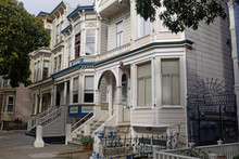 City Block Of Duboce Circle San Francisco Victorians.