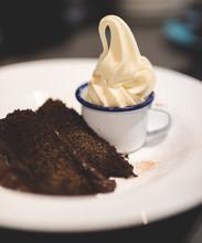 Rich Chocolate Cake And Cream ...