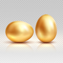 Golden Eggs Realistic Vector I...