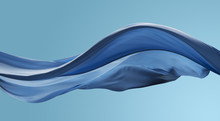 Cloth Wave Movement In The Air On Blue Sky Tone Background