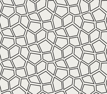 Seamless Vector Mosaic Pattern. Irregular Cells Background. Voronoi Texture.