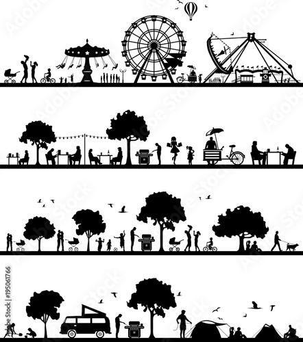 Poster Wit Silhouetten Freizeit und Hobby