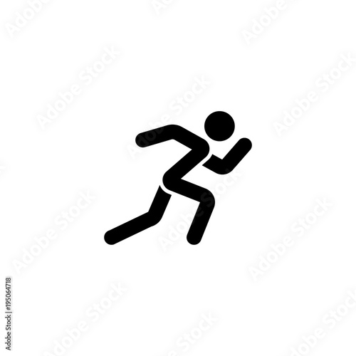 Running Man Vector Icon Simple Flat Symbol On White Background