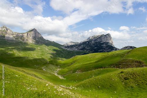 Fotografie, Tablou Зеленые холмы и голубое небо