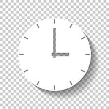 Simple Clock Icon. White Icon ...