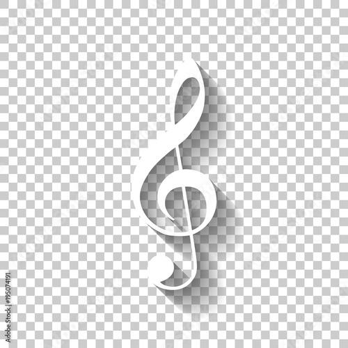 Fotografia Simple icon of treble key