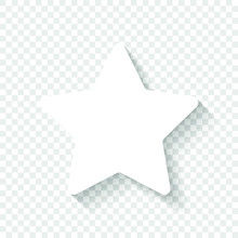 Star Icon. White Icon With Sha...