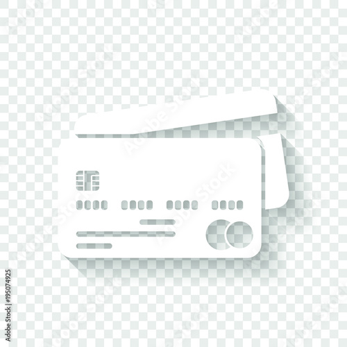 credit card mastercard icon white icon with shadow on transparent