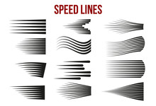 Speed Lines Black For Manga An...