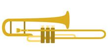 Isolated Trombone Icon. Musica...