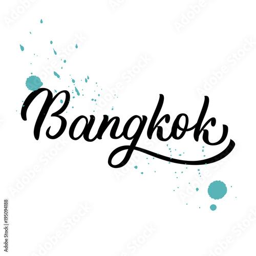 Photo  Bangkok hand lettering