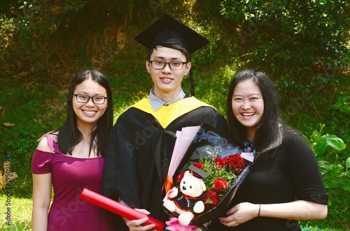 Asian graduation.Education concept. Poster