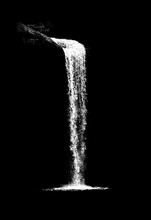 Waterfall Isolated On The Blac...