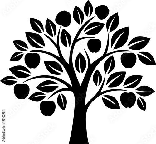 Fotografía Vector apple tree