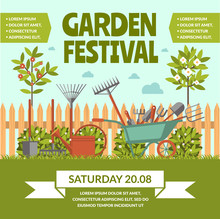 Garden Festival Colorful Poster