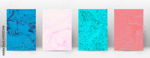 Foto op Aluminium Retro sign Abstract cover. Modern design template. Alive suminagashi marble. Minimalistic hipster flyer design. Majestic trendy abstract cover. Vector illustration.