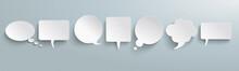 White Paper Speech Bubbles Gra...