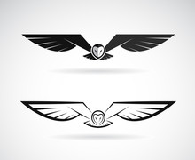 Vector Of An Owl Design On A W...