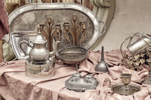 Brass Containers And Plates, C...