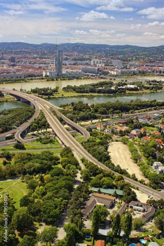 Vienna cityscape, vertical view Canvas Print
