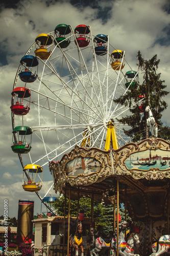 Papiers peints Attraction parc Vintage toned picture of an amusement park
