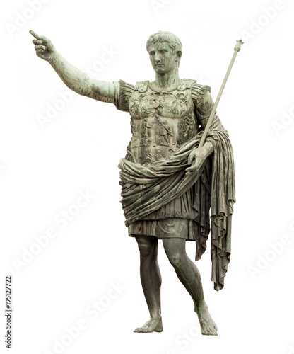Cuadros en Lienzo statue of Caesar in Rome isolated on white