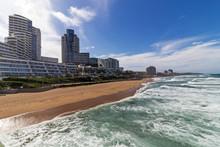 Blue Sky City Skyline Coastal Landscape In Durban