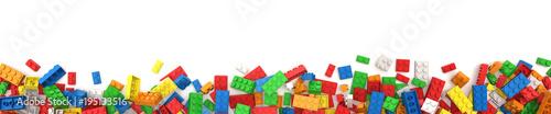 Fototapeta Plastic building blocks obraz