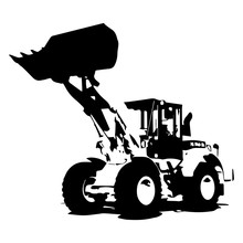 Front Loader Black Color On Wh...