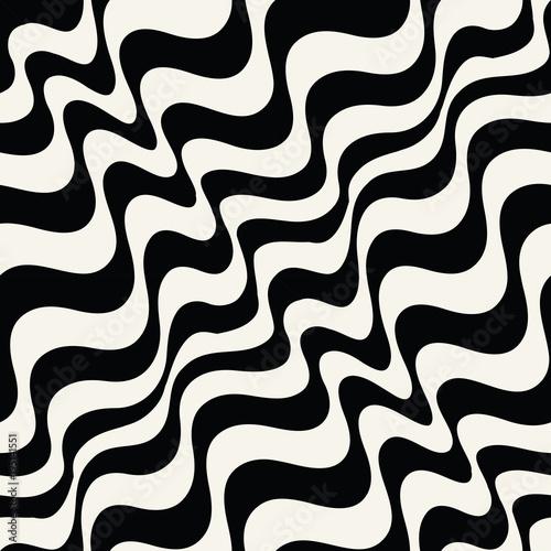 Fototapety, obrazy: abstract wavy stripes seamless pattern