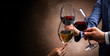 canvas print picture - toasting with wine glasses