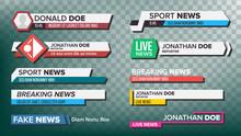 TV News Bars Set Vector. Strea...