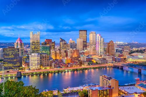 In de dag Havana Pittsburgh, Pennsylvania, USA Skyline