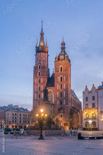 Spoed Foto op Canvas Krakau Old City of Krakow in the morning