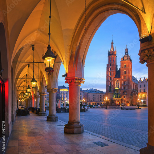 obraz PCV Old City of Krakow in the morning