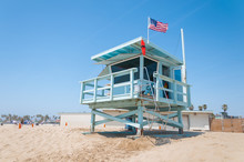 Open Lifeguard Station, Venice Beach, Santa Monica Los-angeles, USA