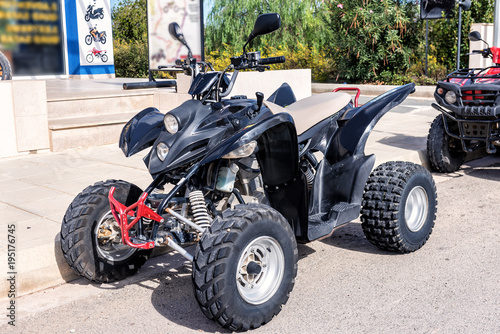 black sport quadbike