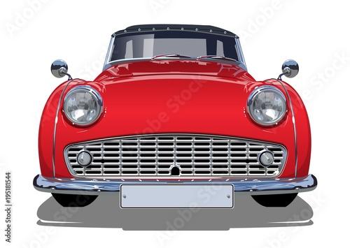 Fotografie, Tablou Vector retro car