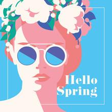 Hello Spring Romantic Banner O...