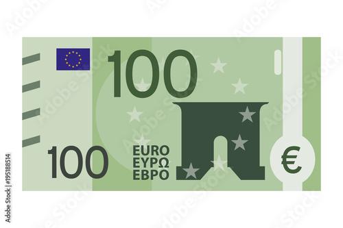 Fotografia  100 Euro Schein - minimalistische Banknote