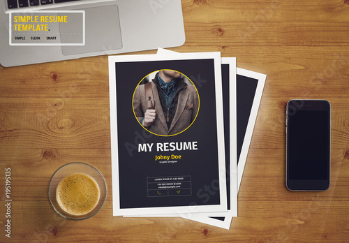 resume layout with dark gray sidebar  buy this stock template and explore similar templates at