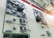 electrical switch panel at substation of power plant.